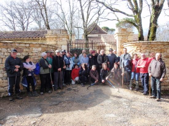 une trentaine de randonneurs à Saint Amand de Coly