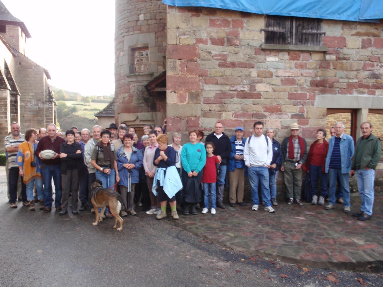 Le groupe de randonneurs au départ de Noailhac