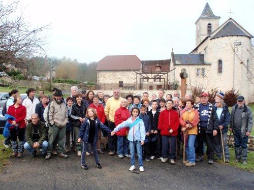au départ de Saint-Julien-Maumont